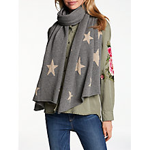 Buy Wyse London Scatter Star Cashmere Scarf, Grey Mix Online at johnlewis.com