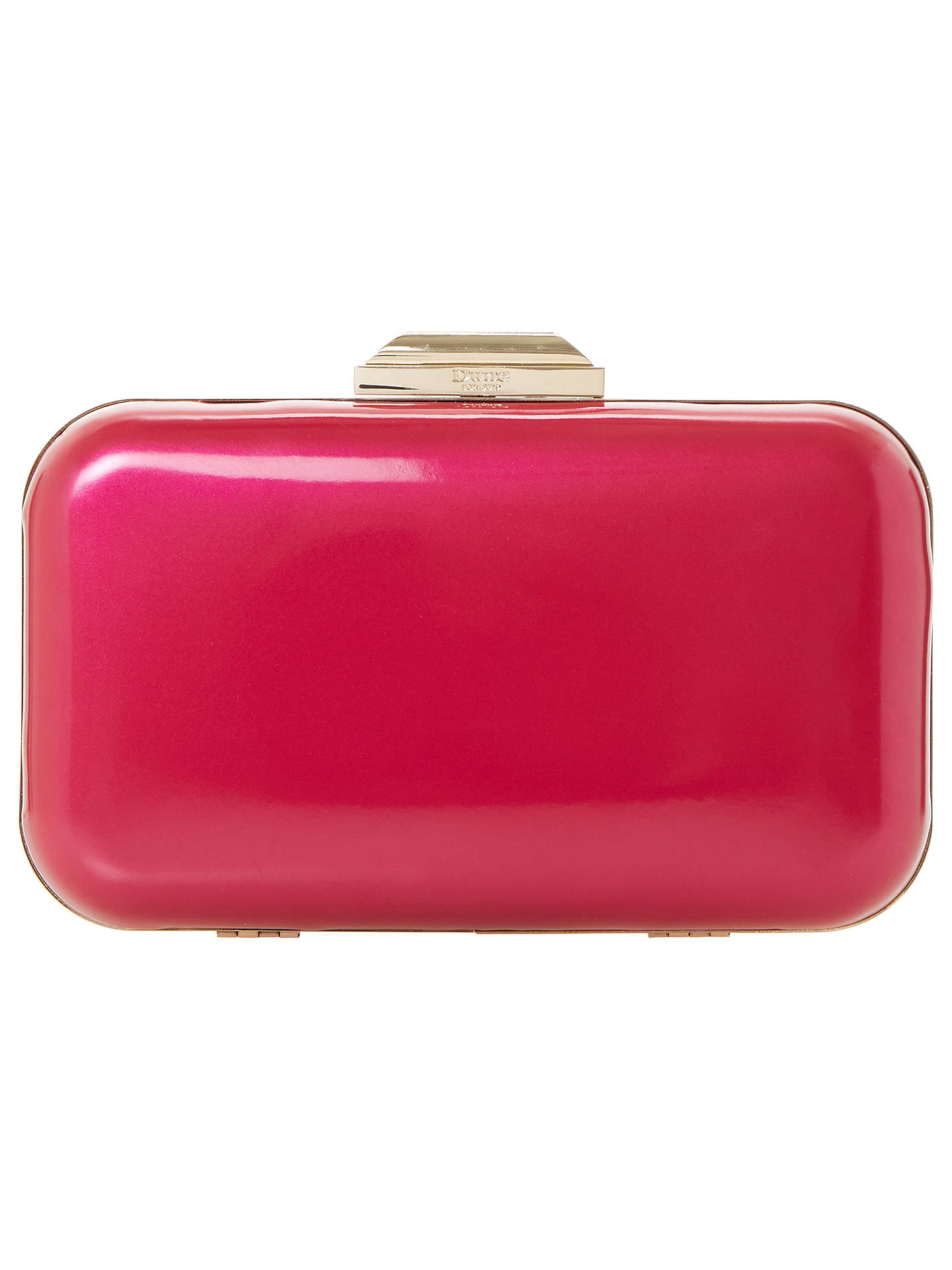 Buy Dune Beverlie Box Clutch Bag, Bright Pink Online at johnlewis.com