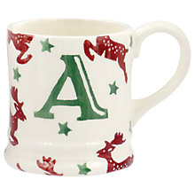 Buy Emma Bridgewater Reindeer Alphabet Christmas Tree Decoration Tiny Mug Online at johnlewis.com