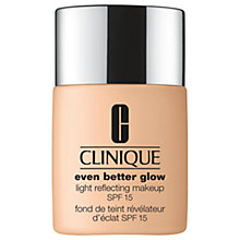 Buy Clinique Even Better™ Glow Light Reflecting Makeup SPF 15 Online at johnlewis.com