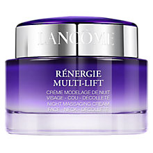 Buy Lancôme Rénergie Multi-Lift Night Massaging Cream, 75ml Online at johnlewis.com