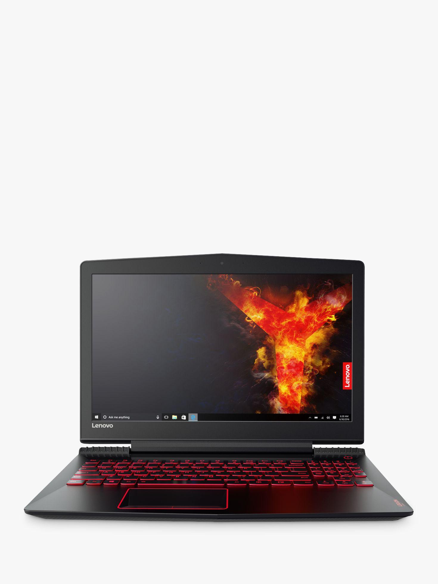 "Lenovo Legion Y520 Laptop, Intel Core i7, 8GB RAM, 1TB HDD + 128SSD, NVIDIA GTX1050, 15.6"" Full HD, Black at John Lewis & Partners"