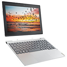 "Buy Lenovo Miix 320 Tablet with Detachable Keyboard, Intel Atom, 4GB RAM, 128GB eMMC, 10.1"" Touch Screen, Wi-Fi, Snow White Online at johnlewis.com"