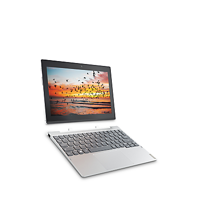 Image of Lenovo Miix 320 Tablet with Detachable Keyboard, Intel Atom, 2GB RAM, 32GB eMMC, 10.1 Touch Screen, Wi-Fi, Snow White