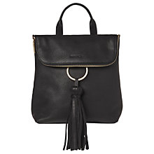 Buy Whistles Verity Tassel Leather Backpack Online at johnlewis.com