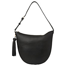Buy Whistles Slouchy Tassel Hobo Bag, Black Online at johnlewis.com