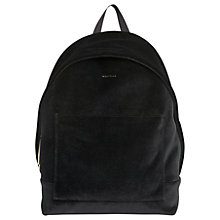 Buy Whistles Crossly Velvet Sporty Backpack, Black Online at johnlewis.com