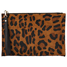 Buy Whistles Leopard Print Wristlet Purse, Multi Online at johnlewis.com