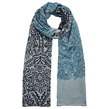Buy Jigsaw Pippa Baroque Print Scarf, Sea Green Online at johnlewis.com