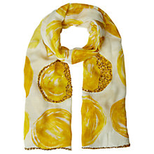 Buy White Stuff Cityscape Spot Scarf, Yellow Online at johnlewis.com