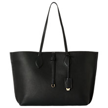 Buy Whistles Regent Leather Tote Bag, Black Online at johnlewis.com