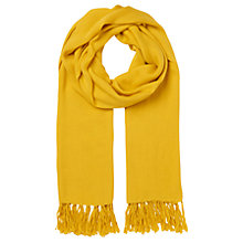 Buy Whistles Plain Woven Scarf, Yellow Online at johnlewis.com