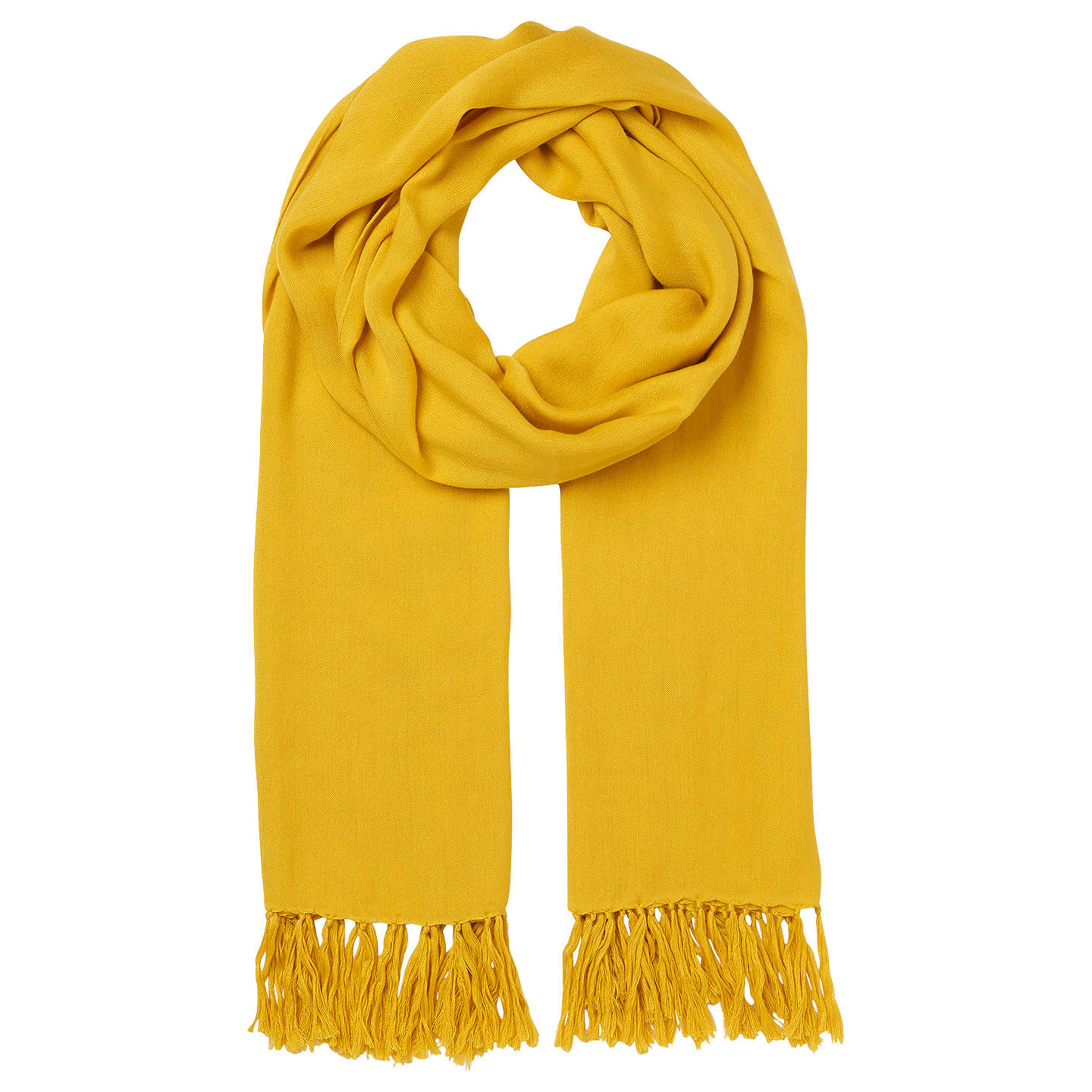 BuyWhistles Plain Woven Scarf, Yellow Online at johnlewis.com
