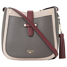 Buy Dune Danao Medium Across Body Saddle Bag, Mink Online at johnlewis.com