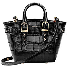 Buy Aspinal of London Marylebone Micro Leather Tote Bag, Black Online at johnlewis.com