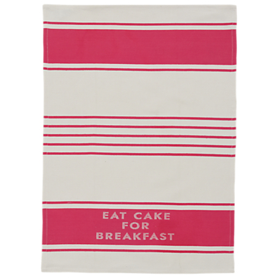 kate spade new york Diner Stripe Tea Towel, White/Red