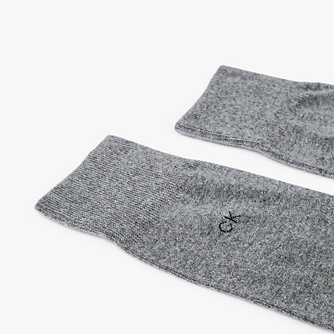Buy Calvin Klein Flat Knit Cotton Mix Socks, Pack of 3, One Size Online at johnlewis.com