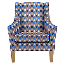 Buy John Lewis Mario Armchair, Light Leg, Osborne & Little Corniche Zelda Blue Online at johnlewis.com