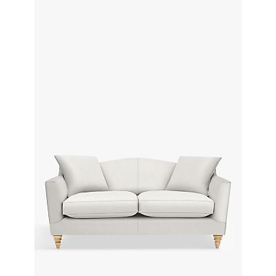 Croft Collection Melrose Medium 2 Seater Sofa, Light Leg, Bracken Herringbone Steel