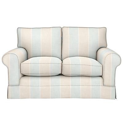 John Lewis Padstow Small 2 Seater Sofa, Brampton Jumbo Stripe Duck Egg