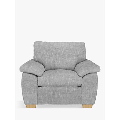 John Lewis Camden Armchair, Light Leg, Arden Blue Grey