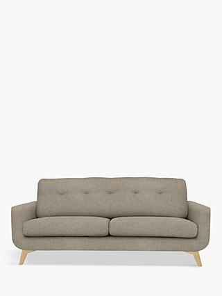 John Lewis & Partners Barbican Large 3 Seater Sofa, Light Leg, Aquaclean Connie Grey