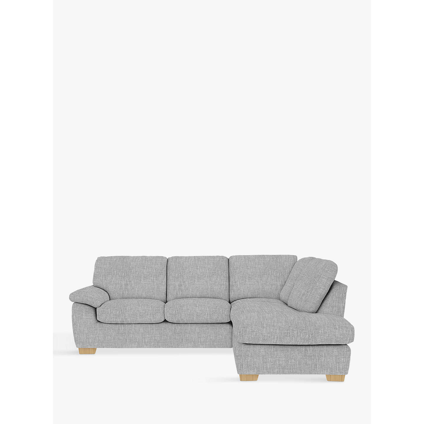John Lewis Cooper Corner Sofa: John Lewis Camden RHF Corner End Chaise Unit, Light Leg At