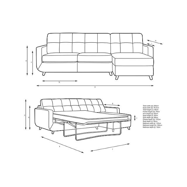 BuyJohn Lewis Barbican RHF Chaise Sofa Bed with Storage, Pocket Sprung Mattress, Light Leg, Stanton Dark Eau De Nil Online at johnlewis.com