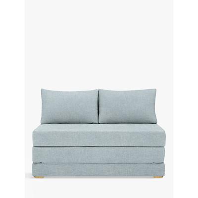 John Lewis Kip Small Double Sofa Bed with Foam Mattress, Light Leg, Aquaclean Matilda Teal