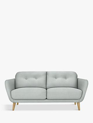 House by John Lewis Arlo Medium 2 Seater Sofa, Light Leg, Aquaclean Matilda Duck Egg