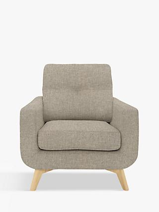 John Lewis & Partners Barbican Armchair, Light Leg, Aquaclean Connie Grey