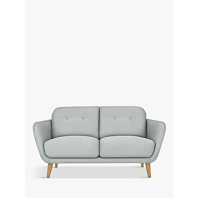 House by John Lewis Arlo Small 2 Seater Sofa, Light Leg, Aquaclean Matilda Duck Egg