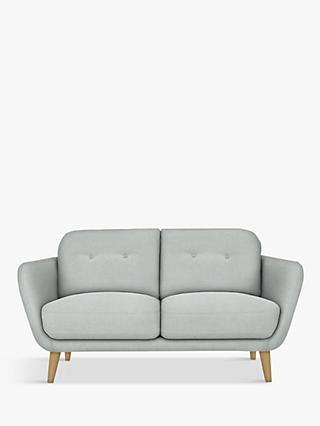 House by John Lewis Arlo Small 2 Seater Sofa, Light Leg, Aquaclean Matilda Duck Egg