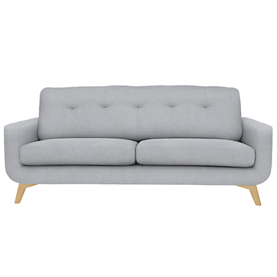 John Lewis Barbican Large 3 Seater Sofa, Light Leg