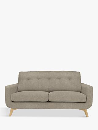 John Lewis & Partners Barbican Medium 2 Seater Sofa, Light Leg, Aquaclean Connie Grey