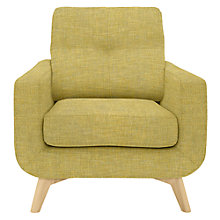 Buy John Lewis Barbican Armchair, Light Leg, Aquaclean Connie Sulphur Online at johnlewis.com