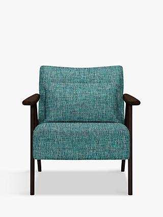 John Lewis & Partners Hendricks Accent Chair, Dark Wood Frame, Stanton Teal