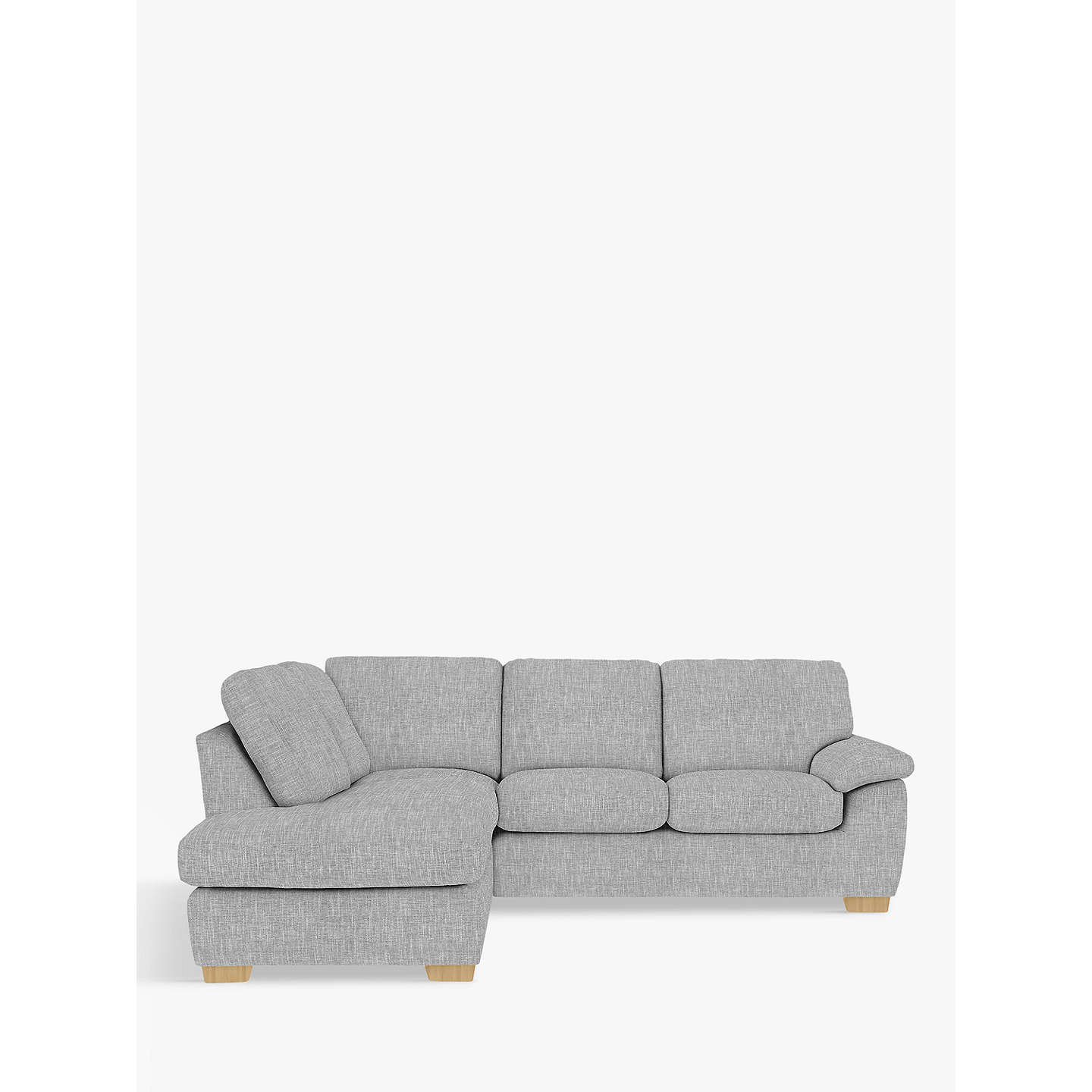 John Lewis Cooper Corner Sofa: John Lewis Camden LHF Corner End Chaise Unit, Light Leg At