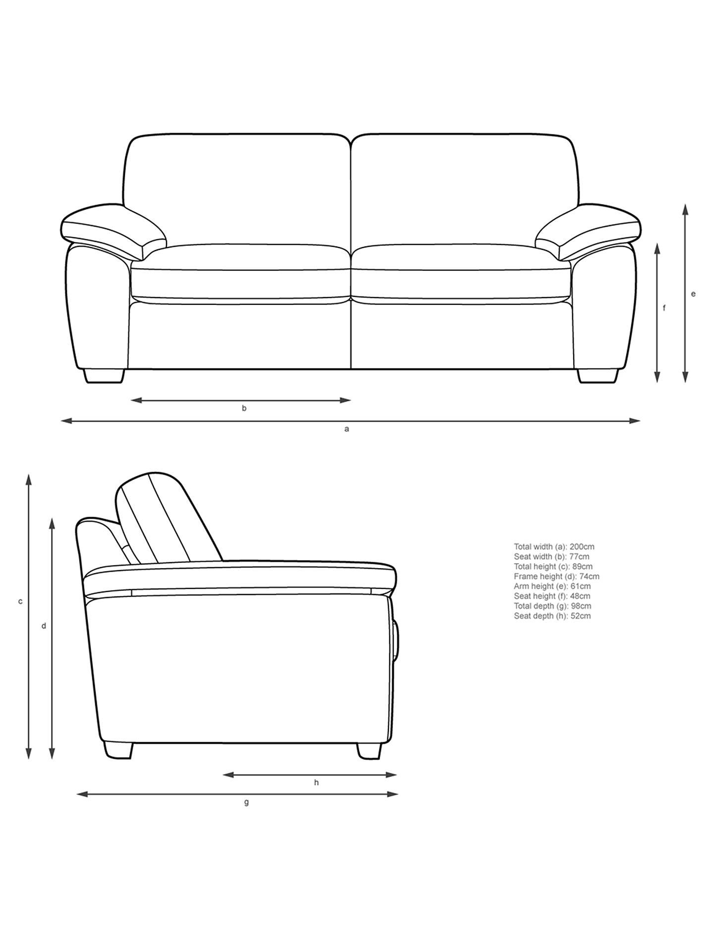 John Lewis & Partners Camden Large 3 Seater Sofa