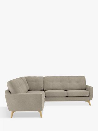 John Lewis & Partners Barbican 5+ Seater Corner Sofa, Light Leg, Aquaclean Connie Grey