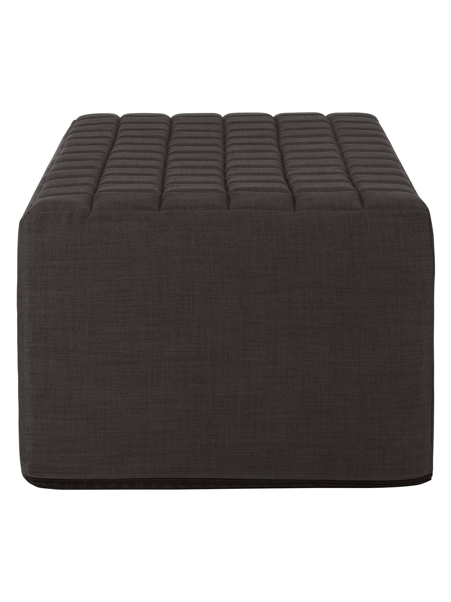 Buy House by John Lewis Kix Double Sofa Bed with Foam Mattress, Fraser Charcoal Online at johnlewis.com