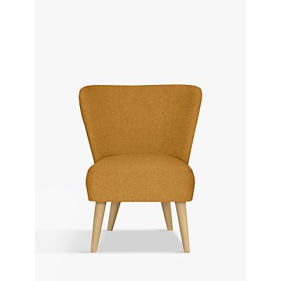 House by John Lewis Audrey Accent Chair, Light Leg, Alban Sulphur