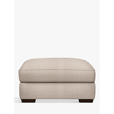 John Lewis Leon Footstool, Dark Leg, Bala Putty