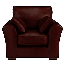 Buy John Lewis Leon Armchair, Dark Leg, Miracle Brown Online at johnlewis.com