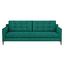 Buy John Lewis Draper Large 3 Seater Sofa, Dark Leg, Chloe Emerald Online at johnlewis.com
