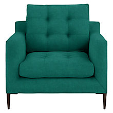 Buy John Lewis Draper Chair, Dark Leg, Chloe Emerald Online at johnlewis.com