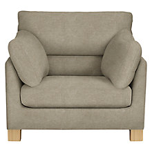Buy John Lewis Ikon High Back Armchair, Light Leg, Grace Mocha Online at johnlewis.com