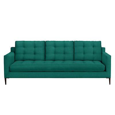 John Lewis Draper Grand 4 Seater Sofa, Dark Leg, Chloe Emerald