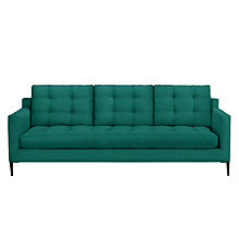 Buy John Lewis Draper Grand 4 Seater Sofa, Dark Leg, Chloe Emerald Online at johnlewis.com