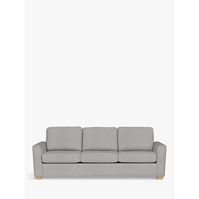 House by John Lewis Oliver Grand 4 Seater Sofa, Light Leg, Aquaclean Matilda Steel